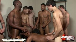 Black Boy Tries Bukkake For the First time Hardcore group ass fucking on Xvideos