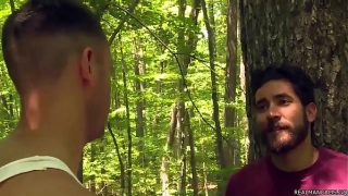 Fucking in the forest horny gays having hot fuck