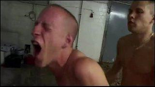 horny gay couple having hardcore fuck at home