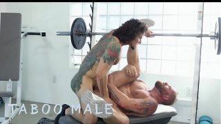 Hot Muscular Guy Fucks Tattooed  Ass Hard