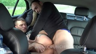 Romantik fucked and creampied in my car on the road by my friend